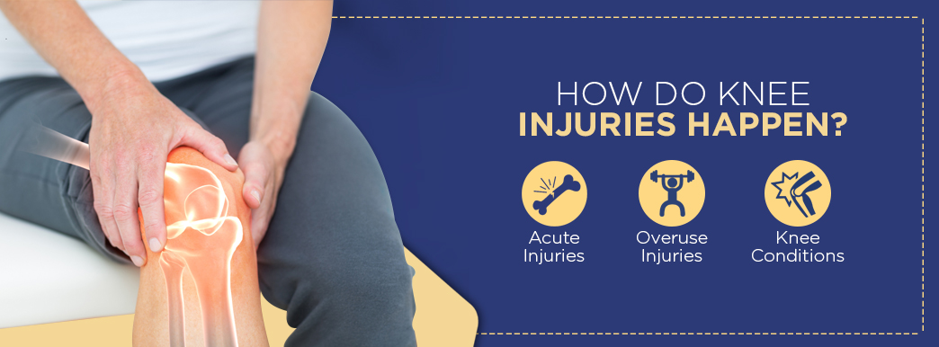 how do knee injuries happen